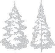 Щанци за машина за изрязване и релеф - Woodlands - Комплект от 2 броя с размери от 6.9 до 10.8 cm