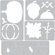 Щанци за машина за изрязване и релеф - Есен - Комплект с папка за ембосинг