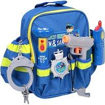 Полицейски  принадлежности в раничка - Детски комплект за игра -