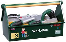 """Сандъче с детски инструменти - Bosch - Комплект за игра от серията """"Bosch-mini"""" -"""