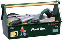 """Сандъче с детски инструменти - Bosch - Комплект за игра от серията """"Bosch-mini"""" - играчка"""