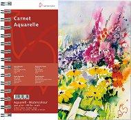 Скицник за рисуване с акварел - Carnet Aquarelle - Плътност на хартията 400 g/m : 2 :