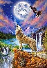 Виещ вълк - пъзел
