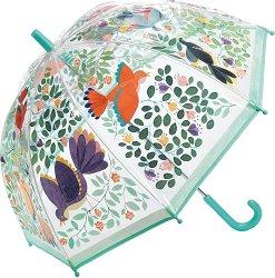 Детски чадър - Цветя и птици - детски аксесоар