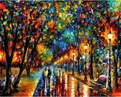 Рисуване по номера - Когато мечтите се сбъдват - Комплект за картина с размери 50 x 40 cm