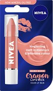 Nivea Crayon Lipstick Color Lip Balm - Цветен балсам за устни - четка