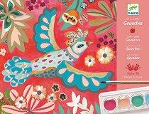Оцветявай с гваш бои - Птици - творчески комплект