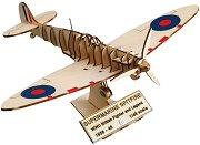 """Британски изтребител - Supermarine Spitfire - 3D дървен пъзел от серията """"Art & Wood"""" - пъзел"""