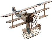"""Германски триплан - Fokker DR.I - 3D дървен пъзел от серията """"Art & Wood"""" - пъзел"""