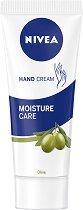 Nivea Moisture Care Hand Cream - Хидратиращ крем за ръце с маслина - гел