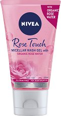 """Nivea Rose Touch Micellar Wash Gel - Мицеларен почистващ гел с розова вода от серията """"Rose Touch - маска"""