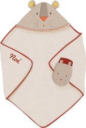 """Хавлия и ръкавичка за баня - Комплект от серията """"Les Papoum"""" -"""