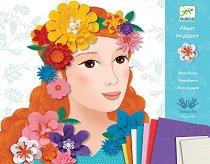 Създай сама картини с 3D хартиени цветя - Творчески комплект -