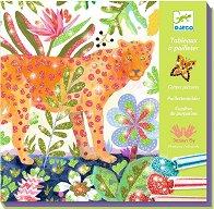 Оцветявай с брокат - Tropico - Творчески комплект за рисуване - играчка