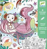 Оцвети русалките - Творчески комплект със скрити елементи -