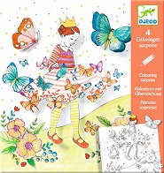 Оцвети картините - Пеперуди - Творчески комплект със скрити елементи - несесер