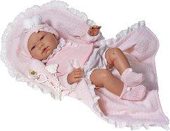 Кукла бебе Мария - Комплект с одеялце и биберон -
