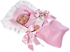 Кукла-бебе Мария - Комплект със спално чувалче и биберон -