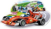 """Автомбилно състезание - Пъзел с едри части от серията """"Castorland: Premium"""" - пъзел"""
