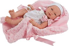 Кукла бебе Мария - Комплект с одеялце и биберон - кукла