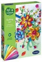 Създай сам квилинг картини - Цветя - творчески комплект