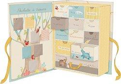 """Картонена кутия за спомени - Слончета - На френски език от серията """"Les Papoum"""" -"""