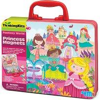 """Разиграй сцени с магнити - Принцеси - Комплект в куфарче от серията """"Thinking Kits"""" - играчка"""