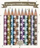 """Цветни моливи - Комплект от 10 цвята от серията """"Love Paper"""""""
