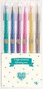 Гел химикалки с  флуоресцентен ефект - Комплект от 6 цвята