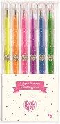 Гел химикалки с  брокатен ефект - Комплект от 6 цвята