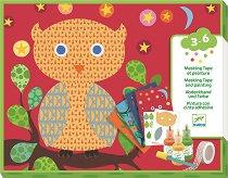 Оцветявай сам с гъба - Животни - Творчески комплект за рисуване -