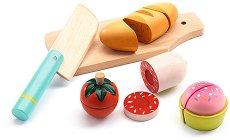 Хранителни продукти - Детски дървен комплект за игра - играчка