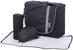 Чанта - Аксесоар за детска количка с подложка за преповиване, термобокс и несесер -