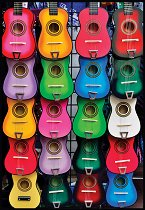 Цветни китари - пъзел