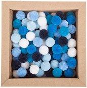Цветни декоративни помпони - Комплект от 120 броя