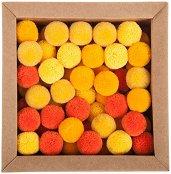 Цветни декоративни помпони - Комплект от 60 броя