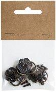 Метални дръжки с халкички - Комплект от 4 броя