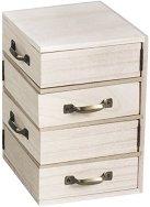 Дървено шкафче с 4 чекмеджета - Предмет за декориране с размери 12 / 18.5 / 12 cm
