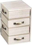 Дървено шкафче с 4 чекмеджета