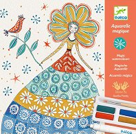 Оцвети картините - Романтични цветя - Творчески комплект с бои -