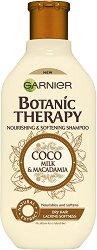 Garnier Botanic Therapy Coco Milk & Macadamia Shampoo - Шампоан за суха коса с кокосово мляко и макадамия -