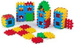 Детски конструктор с вафлени блокчета - Комплект от 48 части -