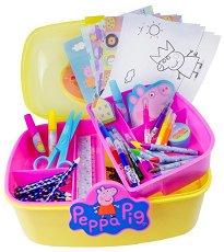 Комплект за рисуване в куфарче - Peppa Pig - творчески комплект