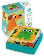 Дървени кубчета - Wouaf and Co - Образователна играчка -