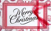 Поздравителна картичка - Merry Christmas -