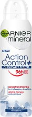 """Garnier Mineral Action Control+ Anti-Perspirant - Дамски дезодорант против изпотяване от серията """"Deo Mineral Action Control+"""" - шампоан"""