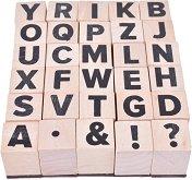 Гумени печати - Азбука - Комплект от 30 броя