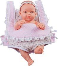 """Кукла бебе момиченце в кенгуру - От серията """"Paola Reina: Mini Pikolines"""" -"""