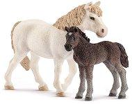 """Пони с малкото му - Комплект фигури от серията """"Животните от фермата"""" - фигура"""