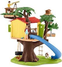 """Къщичка на дърво - Комплект фигури и аксесоари от серията """"Животните от фермата"""" - фигура"""